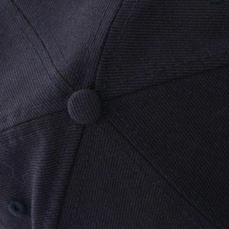 YOHJI YAMAMOTO NEW ERA logo embroidery faux shearling aviator cap hat 7 1/4 For Sale 3