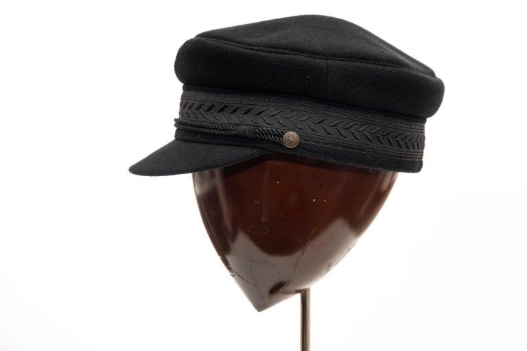 Yohji Yamamoto Pour Homme Black Wool Cashmere Greek Fisherman's Cap, Fall 2012 For Sale 5