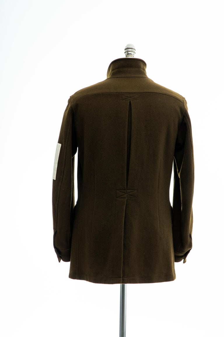 Yohji Yamamoto Pour Homme Men's Wool & Cashmere Printed Patch Jacket, Fall 2003 For Sale 4