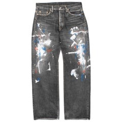 Yohji Yamamoto Pour Homme x Spotted Horse AW2002 Painted Denim