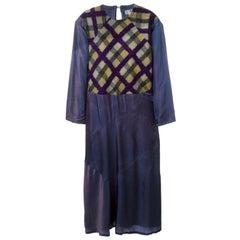 Yohji Yamamoto Purple Dress