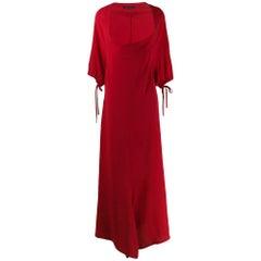 Yohji Yamamoto Red Silk Dress