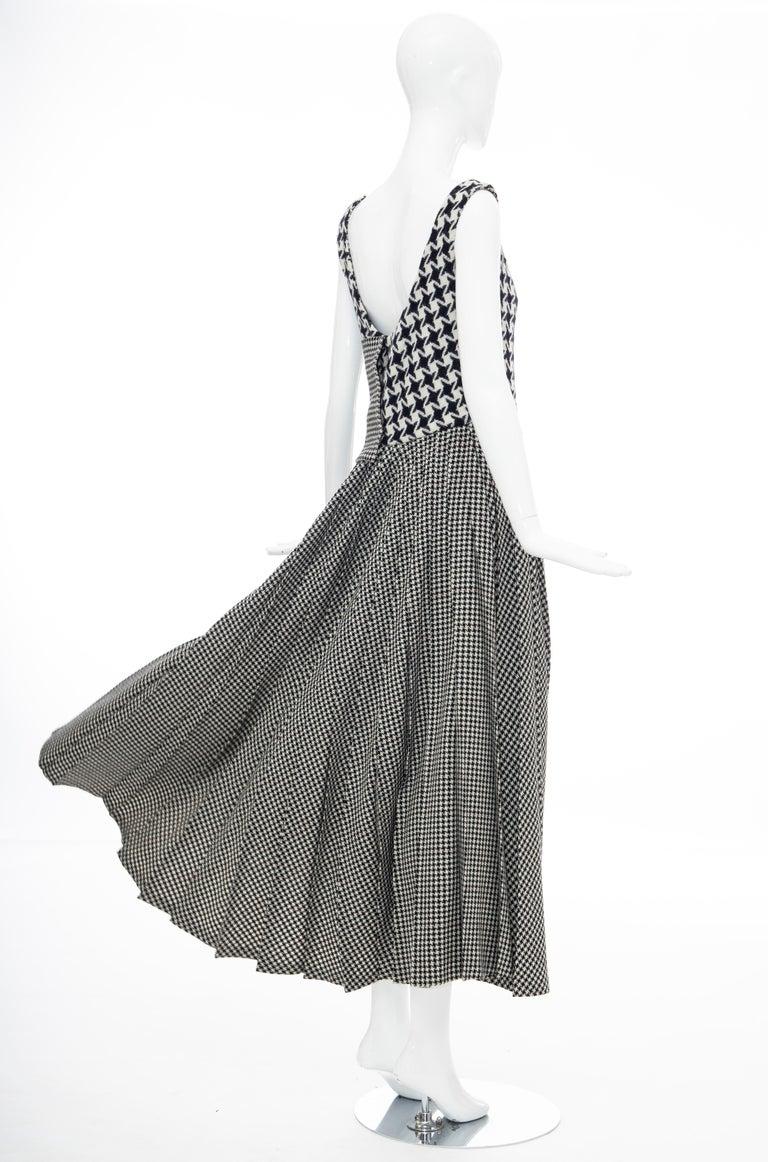 Yohji Yamamoto Runway Wool Navy Black Houndstooth Sleeveless Dress, Fall 2003 For Sale 7