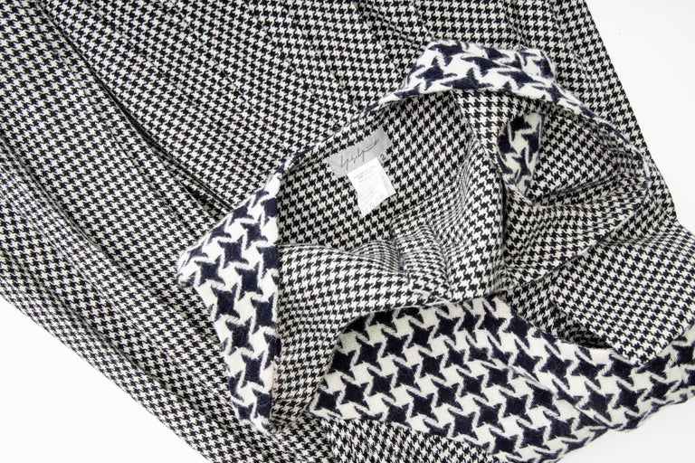 Yohji Yamamoto Runway Wool Navy Black Houndstooth Sleeveless Dress, Fall 2003 For Sale 16
