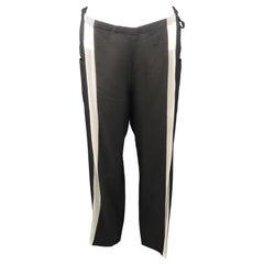 YOHJI YAMAMOTO Size M Black Silk Dress Pants