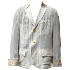 Yohji Yamamoto White Linen Jacket
