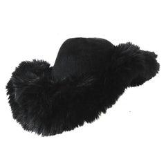 Yohji Yamamoto Wide Brim Faux Fur Hat circa AW 2013
