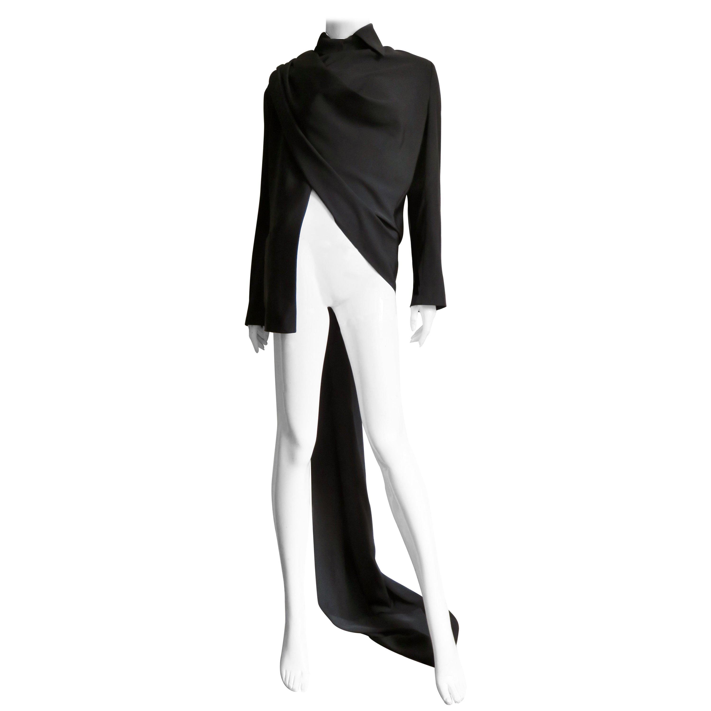 Yohji Yamamoto Wrap and Drape Silk Jacket Top