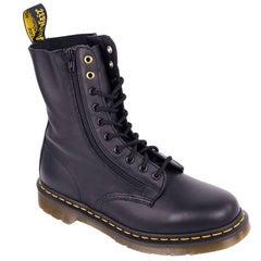 Yohji Yamamoto X Dr. Martens Mens Black Leather Combat Boots