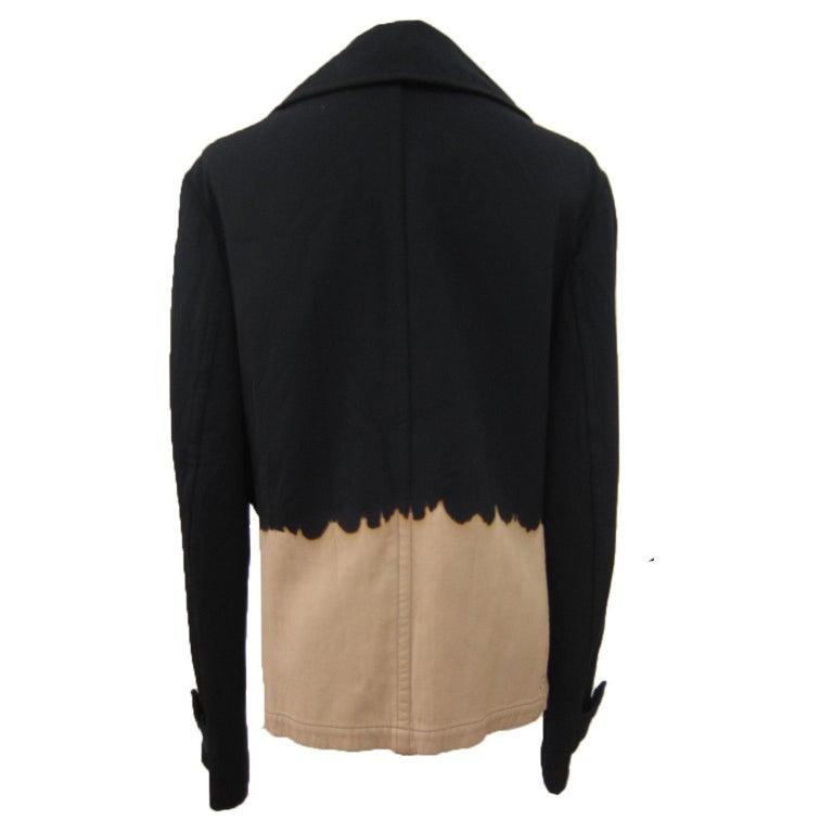 Yohji Yamamoto Y's Bleach Black Beige Jacket Blazer  For Sale 1