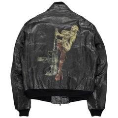 Yohji Yamamoto Y's x Justin Davis AW2009 Pin-Up Girl Leather Jacket