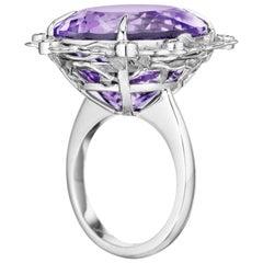 Yoki Amethyst Diamond White Gold Ring