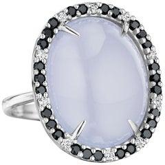 Yoki Chalcedony Diamond White Gold Ring