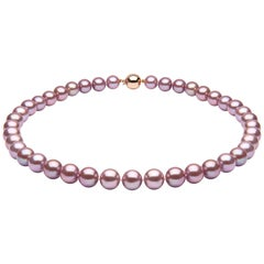 Yoko London Classic Pink Freshwater Pearl Necklace in 18 Karat Rose Gold