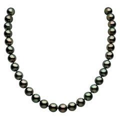 Yoko London Classic Tahitian Pearl Necklace in 18 Karat White Gold