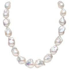 Yoko London Freshwater Baroque Pearl Necklace in 18 Karat Yellow Gold