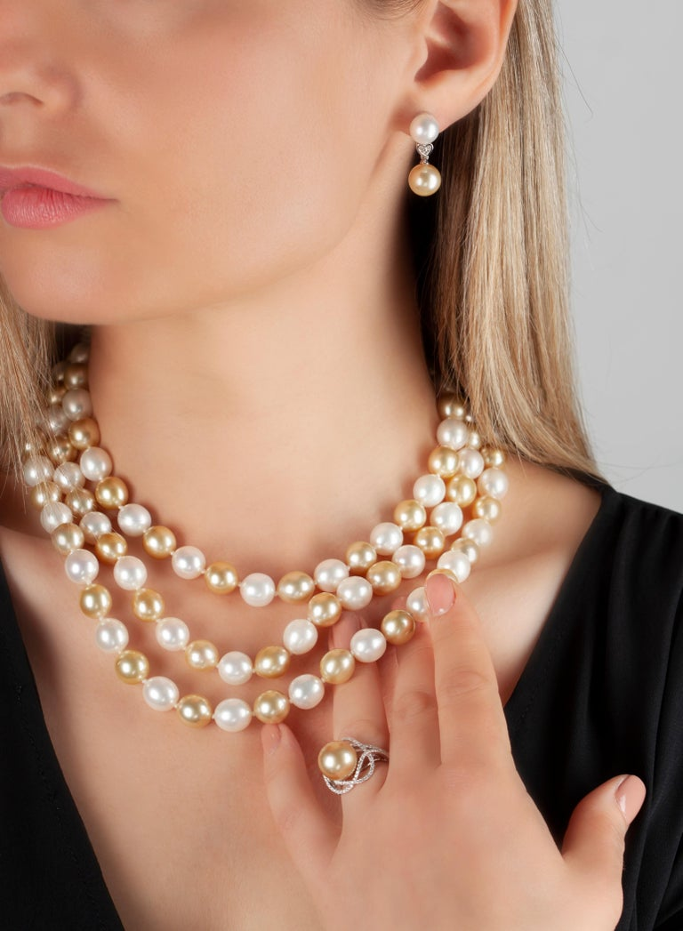 f377cfce6f3 Yoko London Golden South Sea and Pearl Necklace in 18 Karat Yellow Gold