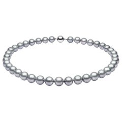 Yoko London Grey Tahitian Pearl Necklace in 18 Karat White Gold