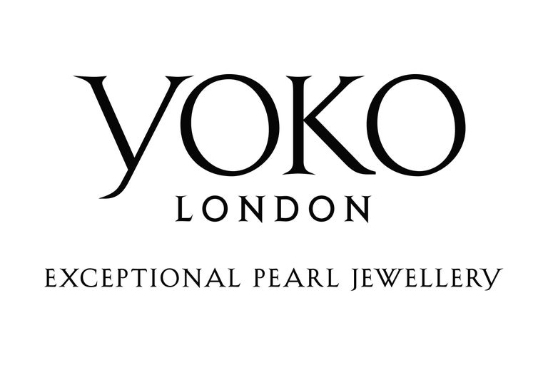 Round Cut Yoko London Pearl and Diamond Floral Necklace in 18 Karat Black and White Gold For Sale