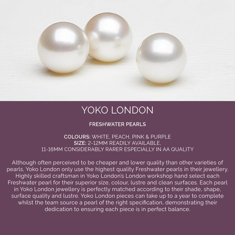 Yoko London Pearls Freshwater Pearl and Coral Necklace in 18 Karat Yellow Gold For Sale 1