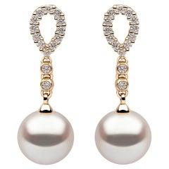 Yoko London Pearls Freshwater Pearl and Diamond Earrings in 18 Karat Yellow Gold