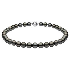 Yoko London Pearls Tahitian Pearl Necklace in 18 Karat White Gold