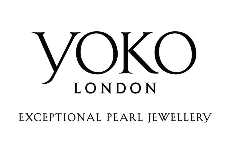 Women's Yoko London Pink Freshwater Pearl and Diamond Earrings in 18 Karat White Gold For Sale