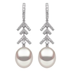 Yoko London South Sea Pearl and Diamond Earrings in 18 Karat