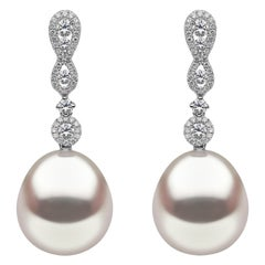 Yoko London South Sea Pearl and Diamond Earrings in 18 Karat White Gold