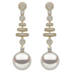 Yoko London South Sea Pearl and Diamond Earrings in 18 Karat Yellow Gold