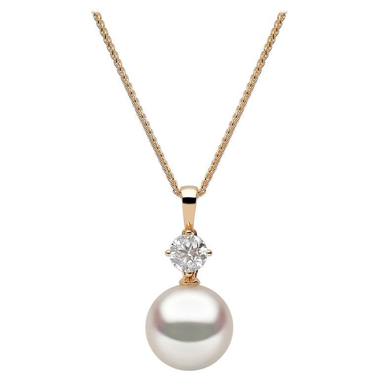 Yoko London South Sea Pearl and Diamond Pendant in 18 Karat Yellow Gold For Sale