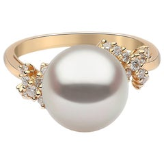 Yoko London South Sea Pearl and Diamond Ring in 18 Karat Yellow Gold