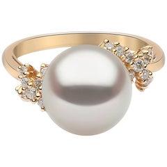 Yoko London Südsee Perlen und Diamant-Ring in 18 Karat Gelbgold