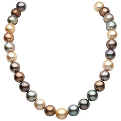 Yoko London South Sea Pearl and Tahitian Pearl Necklace in 18 Karat White Gold