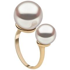 Yoko London South Sea Pearl Modern Ring Set in 18 Karat Yellow Gold