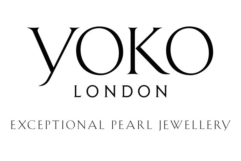 Round Cut Yoko London South Sea Pearl Ring with Black and White Diamonds, in 18 Karat Gold For Sale