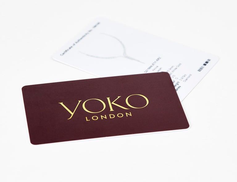 Women's Yoko London Tahitian Pearl and Diamond Earrings set in 18 Karat White Gold For Sale
