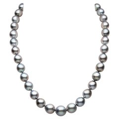 Yoko London Tahitian Pearl Classic Necklace in 18K White Gold
