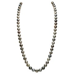 Yoko London Tahitian Pearl Long Classic Strung Necklace in 18 Karat White Gold