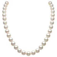 Yoko London White South Sea Classic Necklace in 18 Karat White Gold