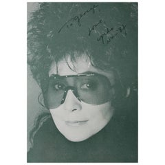 Yoko Ono Autographed Photograph, JSA Certificate of Authentication, circa 1970