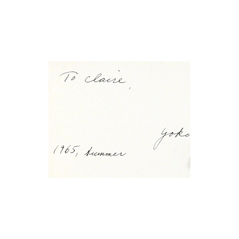 Yoko Ono - Grapefruit - First Edition Signed by Ono In Good Condition For Sale In New York, NY