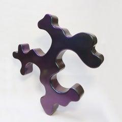 fiberglass sculpture, multicolor, color changing when you walk around