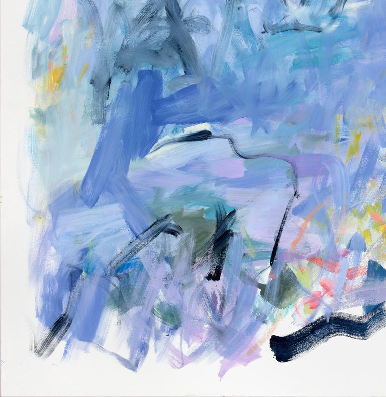 As Though Time Were Very Large Large Abstract Pale Purple Light Blue Painting
