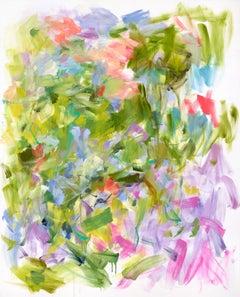 "Yolanda Sanchez ""Awake Awhile"" - Large Colorful Abstract Painting on Canvas"