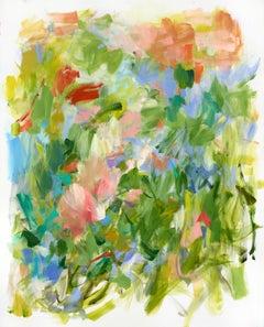"Yolanda Sanchez ""Joyous Rambling"" - Colorful Abstract Oil Painting on Canvas"