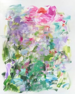"""Yolanda Sanchez """"Dream in Green"""" - Colorful Abstract Oil Painting"""