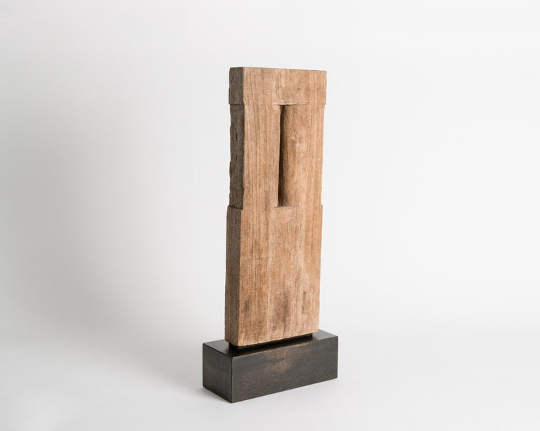 Yongjin Han, a Piece of Wood, Sculpture, United States, circa 1985 In Good Condition For Sale In New York, NY
