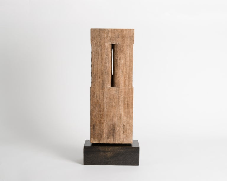 Late 20th Century Yongjin Han, a Piece of Wood, Sculpture, United States, circa 1985 For Sale