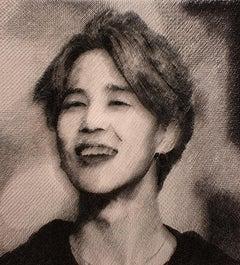 JIMIN [Black, White, Steel on canvas, Stereoscopic, Portrait, New media, BTS]